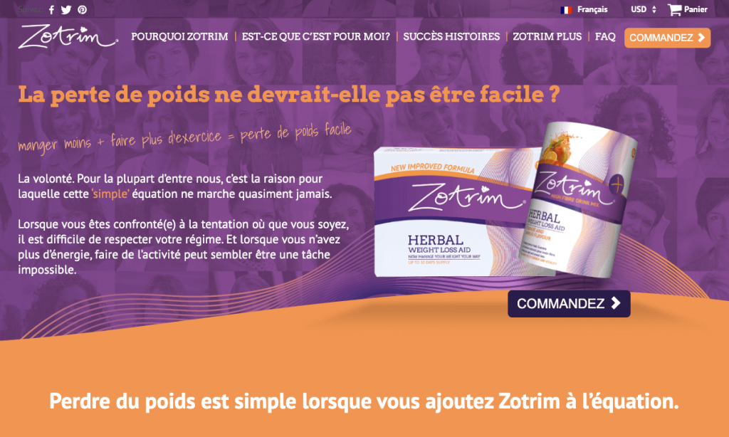 Site officiel de Zotrim en Français