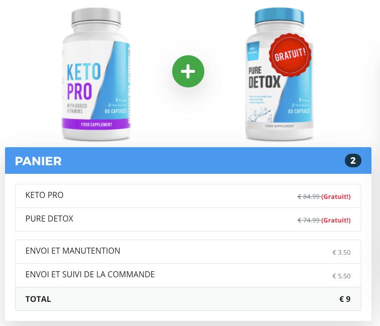 Échantillon gratuit de Keto pro