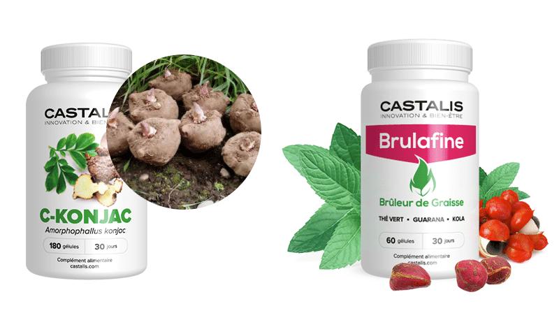 Différences entre Brulafine et C-Konjac